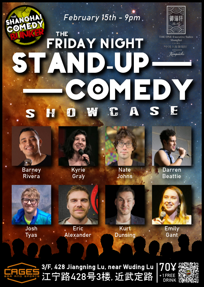 Friday Night Stand Up Comedy Showcase Shanghai Comedy Bunker